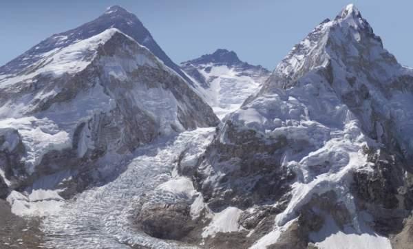 Эверест - круша мира, 2-х гигапиксельная фотография, изображение высокого качества
